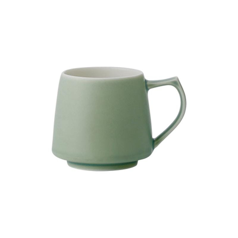 摺紙咖啡 Aroma 馬克杯 320ml(霧色系5色) 霧藍色