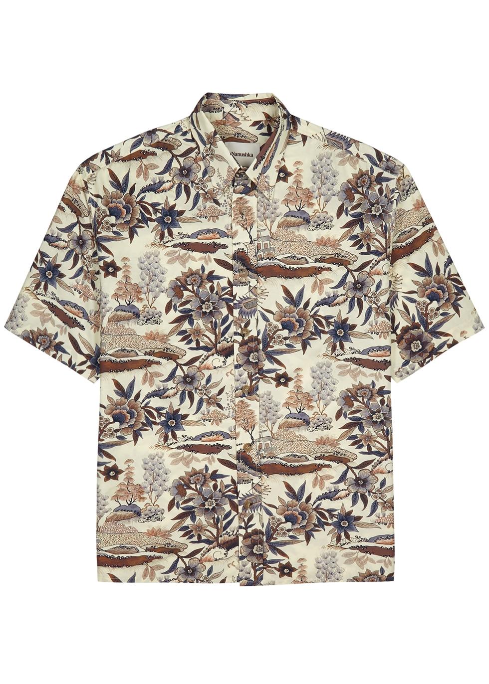 Alain printed cotton-blend shirt