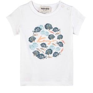 Kenzo Kids White Under The Sea T-Shirt 12 months