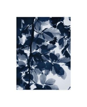 """Lexie Gree Indigo Leaves Canvas Art - 15.5"""" x 21"""""""