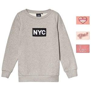 Petit by Sofie Schnoor Petit by Sofie Schnoor Grey Melange NYC Velcro Sweatshirt 116 cm (5-6 Years)