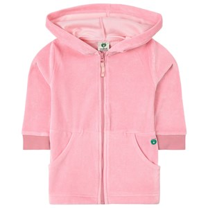 Småfolk Småfolk Pink Velour Hoodie 1-2 years