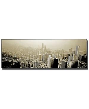"""Preston 'Chicago Skyline' Canvas Art - 48"""" x 16"""""""