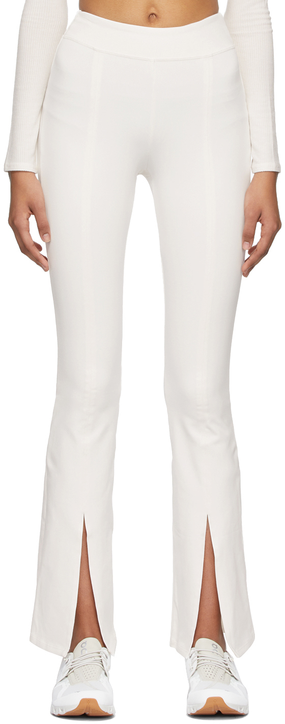 Alo 白色 Airbrush High-Waist Flutter 打底裤