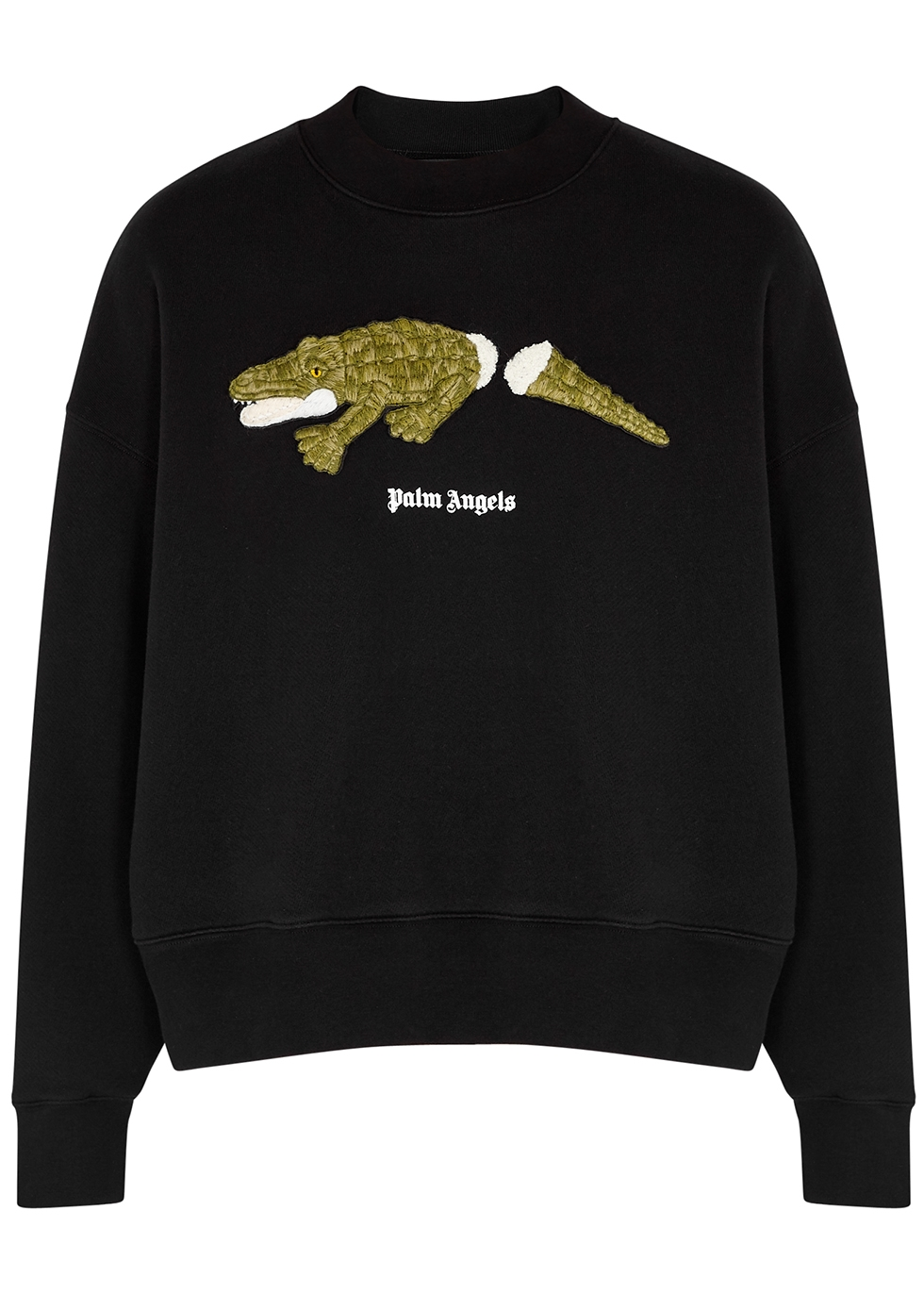 Croco embroidered cotton sweatshirt