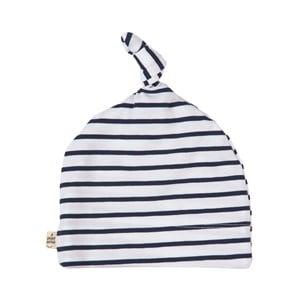 A Happy Brand Navy Striped Baby Beanie 50/52 cm