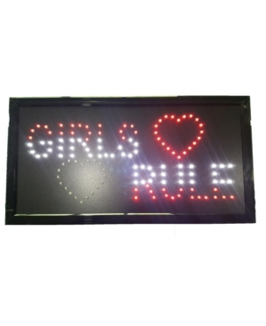 Creative Motion Electrical Girls Rule Led Sign