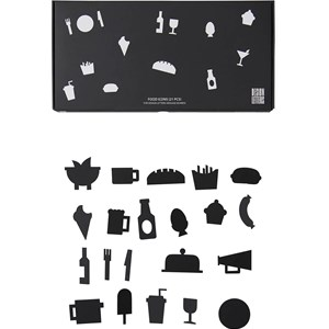 Design Letters Design Letters 21 Pack of Black Food Icons for Message Board One Size