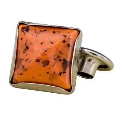 IVAN 10mm四角土耳其橘壓克力撞釘(10/包)11360-01