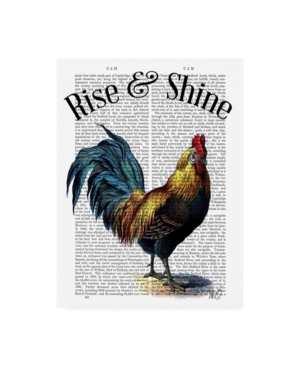 """Fab Funky Rise and Shine Chicken Book Canvas Art - 15.5"""" x 21"""""""