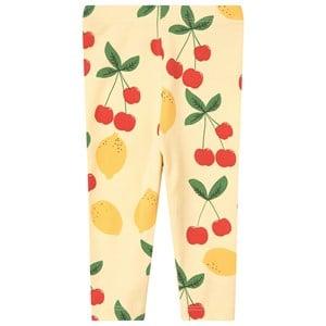 Mini Rodini Mini Rodini Yellow Cherry Lemonade Leggings 92/98 cm