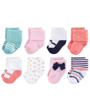Little Treasure Terry Socks, 8-Pack