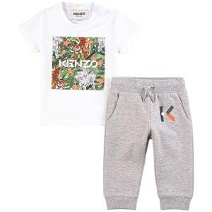 Kenzo Kids Kenzo Kids Gray Tiger Sweat Set 2 years