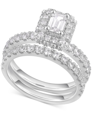 Diamond Emerald-Cut Halo Engagement Ring (2 ct. t.w.) in 14k White Gold