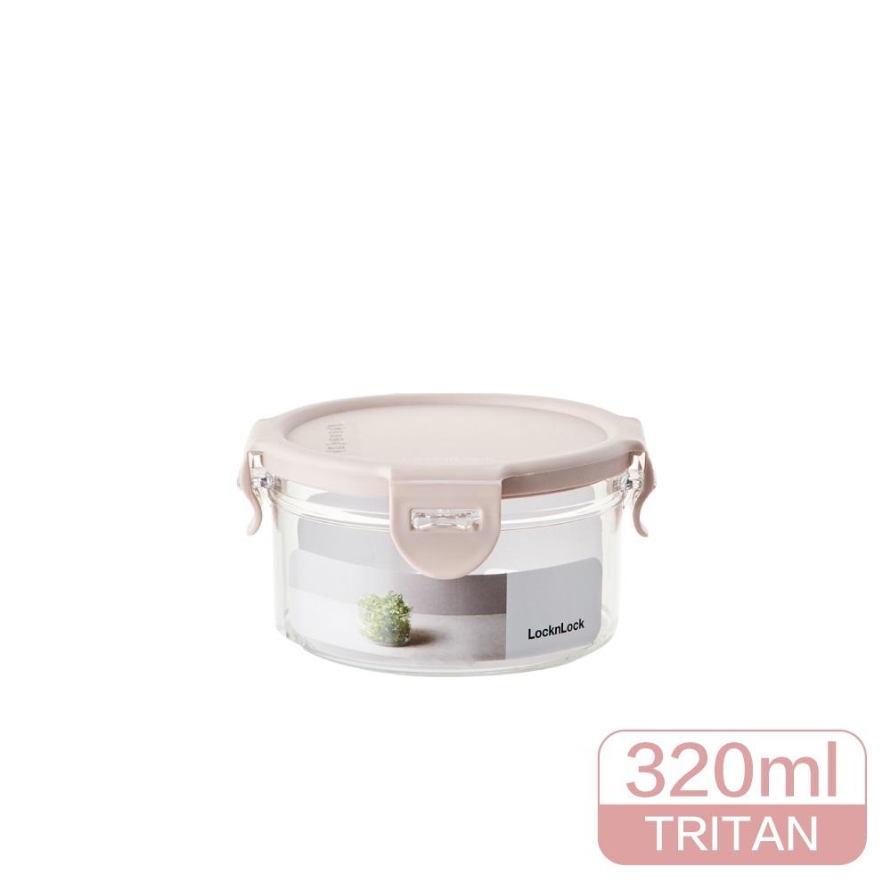 LocknLock樂扣樂扣純淨保鮮盒/320ML/圓形/粉色