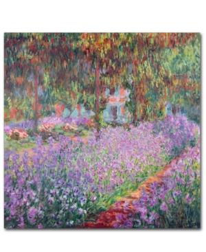 "Claude Monet 'The Artist's Garden at Giverny' 14"" x 14"" Canvas Art Print"