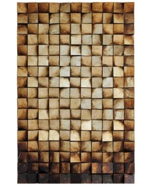 "Empire Art Direct 'Textured 1' Metallic Handed Painted Rugged Wooden Blocks Wall Sculpture - 48"" x 3"