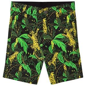 Stella McCartney Kids Stella McCartney Kids Black Palm Print Cotton Shorts 2 years