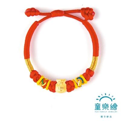 童樂繪金飾 袋袋平安童手繩約重.25錢±0.03 彌月金飾