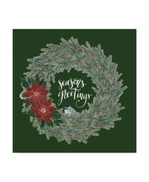 "Sara Zieve Miller Woodland Wreath Ii Green Canvas Art - 20"" x 25"""