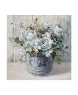 "Danhui Nai Garden Blooms I Blue Crop Canvas Art - 15"" x 20"""