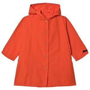 Little Creative Factory Little Creative Factory Orange Crushed Cotton Coat 12 Years