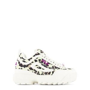 Fila White Branded Leopard Mesh Disruptor Trainers 39 (UK 6.5)