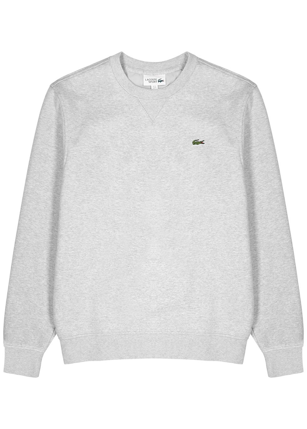 Light grey cotton-blend sweatshirt
