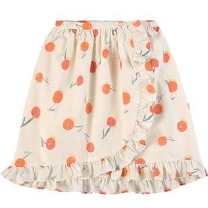 Bonpoint Bonpoint White Cherry Print Skirt 4 years