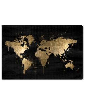 "Oliver Gal Mapamundi Gold Canvas Art - 10"" x 15"" x 1.5"""