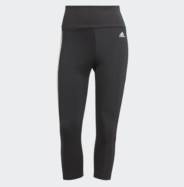 Adidas 3-STRIPES 女款黑色運動七分緊身褲-NO.GL3985