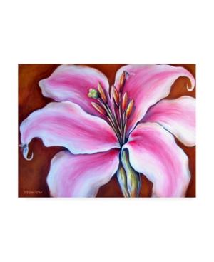 "Deborah Broughton Flower Lily bees Canvas Art - 15.5"" x 21"""