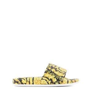 Versace Gold Heritage Print Slide Sandals 31-32 (UK 12.5-13)