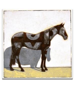 "Ready2HangArt, 'Equestrian Pinto' Horse Canvas Wall Art, 20x20"""