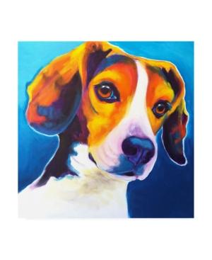 """DawgArt Beagle Martin Canvas Art - 15.5"""" x 21"""""""