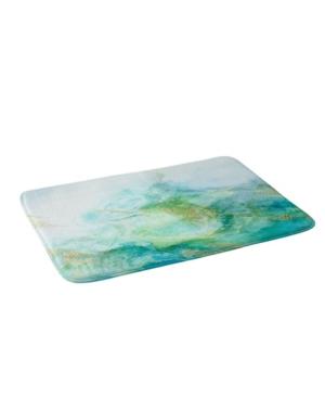 Deny Designs Iveta Abolina Crystalline Water Navy Bath Mat Bedding