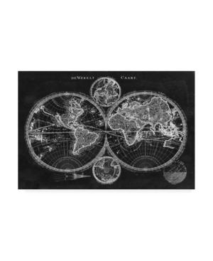 "Studio W Charcoal World Map Canvas Art - 15"" x 20"""