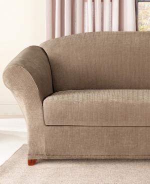 Sure Fit Stretch Pinstripe 2-Piece Sofa Slipcover