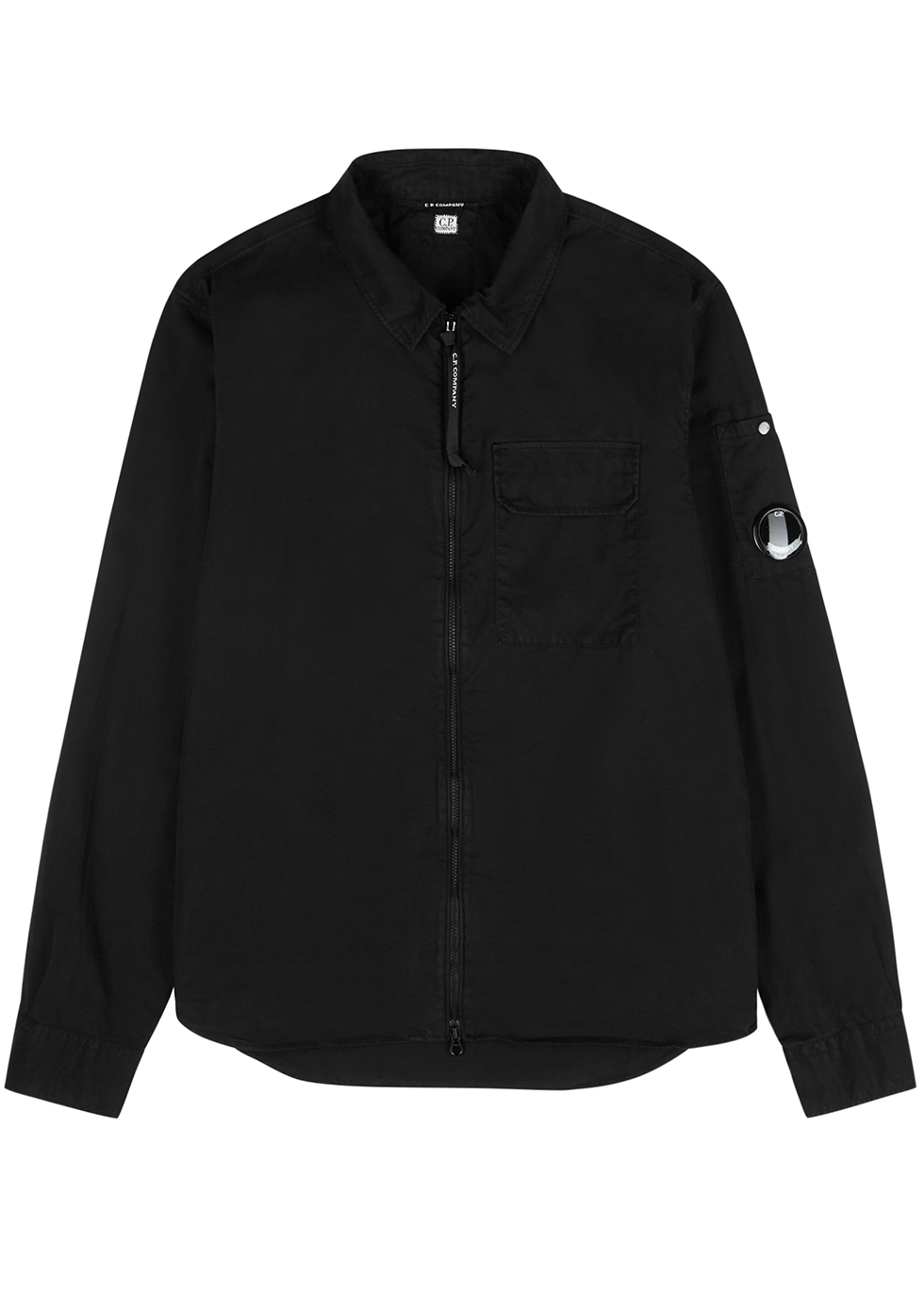 Black cotton overshirt