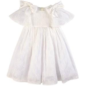 Paade Mode White Lulu Flutter Sleeve Chiffon Dress 6 years