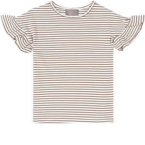 Creamie Creamie Cocoa Brown Stripe T-Shirt 134 cm (8-9 Years)