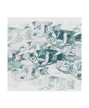 """June Erica Vess Sea Life Batik Iii Canvas Art - 27"""" x 33"""""""
