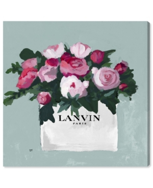 """Oliver Gal Pink and Mint Bouquet Canvas Art, 24"""" x 24"""""""