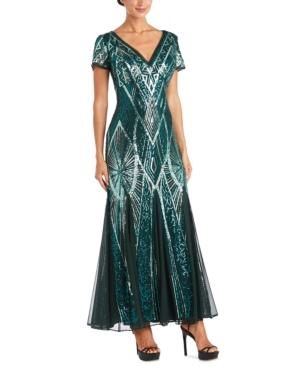 R & M Richards Petite Sequin Gown