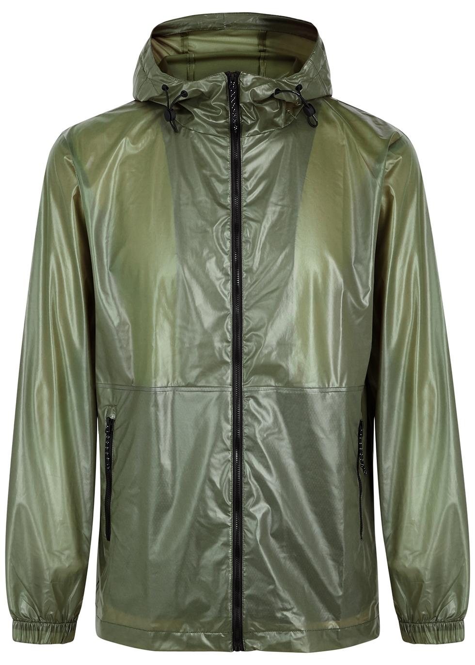 Ultralight olive shell jacket