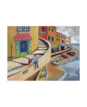 """Patricia A. Reed Sitting on the Coast Canvas Art - 15.5"""" x 21"""""""