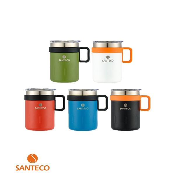 Santeco KEMI 法國 馬克杯 350ml 雙層真空 透明杯蓋 公司貨