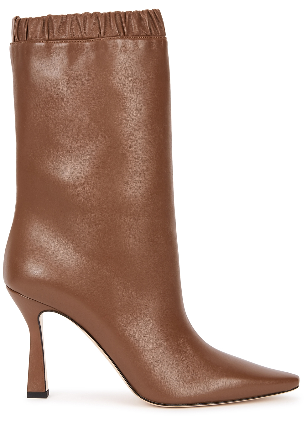 Lina 95 brown leather ankle boots
