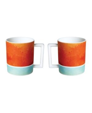 Twig New York Reve Orange Mugs - Set of 2