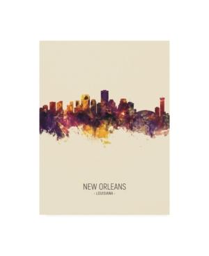 """Michael Tompsett New Orleans Louisiana Skyline Portrait Iii Canvas Art - 15.5"""" x 21"""""""